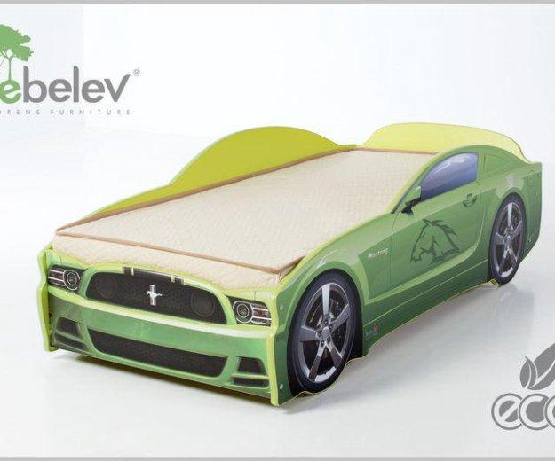 Кровать-машина мустанг (цвет зеленый). Фото 2. Москва.