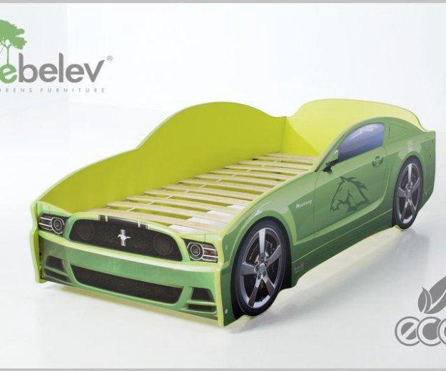 Кровать-машина мустанг (цвет зеленый). Фото 1. Москва.