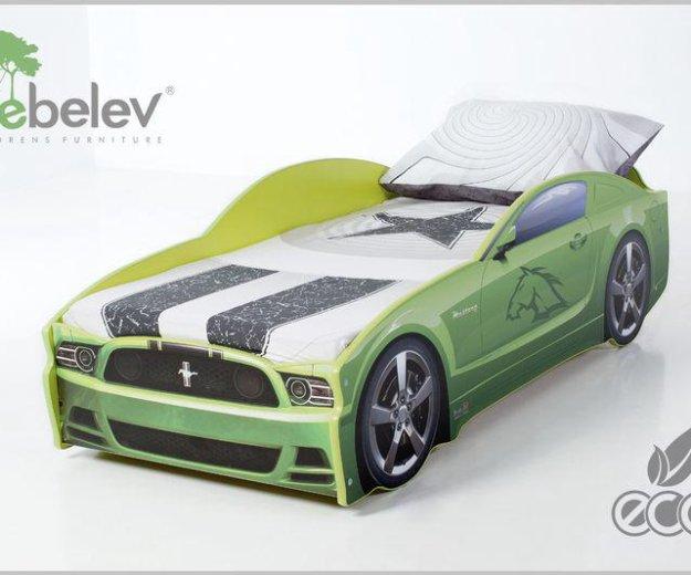 Кровать-машина мустанг (цвет зеленый). Фото 3. Москва.