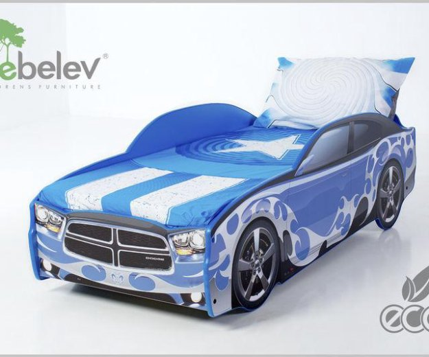 Кровать-машина додж (цвет синий). Фото 3. Москва.
