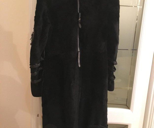 Дублёнка жен чёрная, натур овчина, размер 46. Фото 4. Московский.