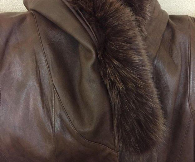 Натуральное пальто демисезонное. Фото 1. Волжский.