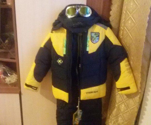 Зимний костюм тройка 116рост. Фото 2.