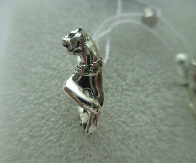 """Серьги """"пантера"""" из серебра 925 пробы с фианитами. Фото 3. Москва."""
