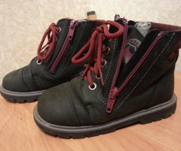 Ботинки кожа демисезонные. Фото 1. Ставрополь.