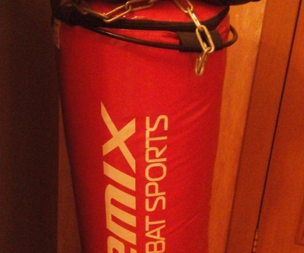 Боксерский мешок+ перчатки. Фото 1.
