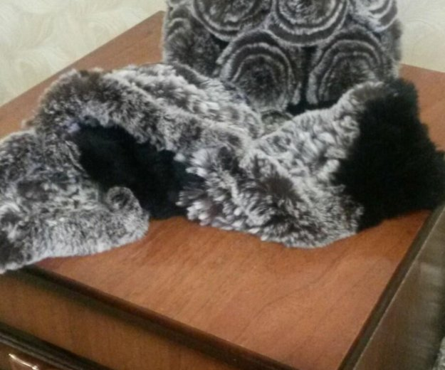 Шапка зимняя с шарфом. Фото 1. Элиста.