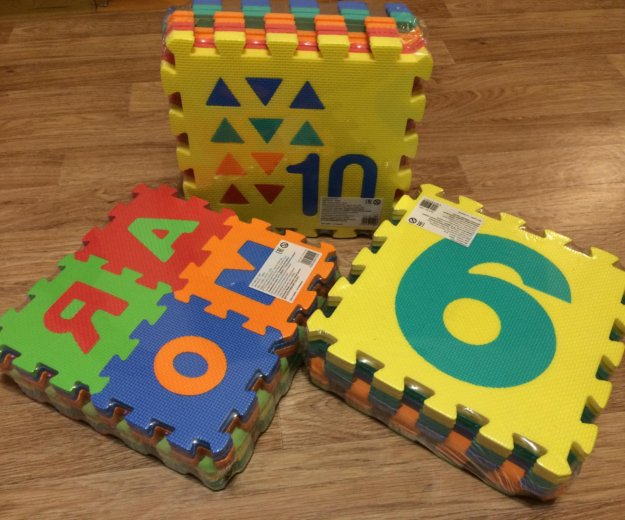 Коврик пазл алфавит для детей. (цифры). Фото 1.