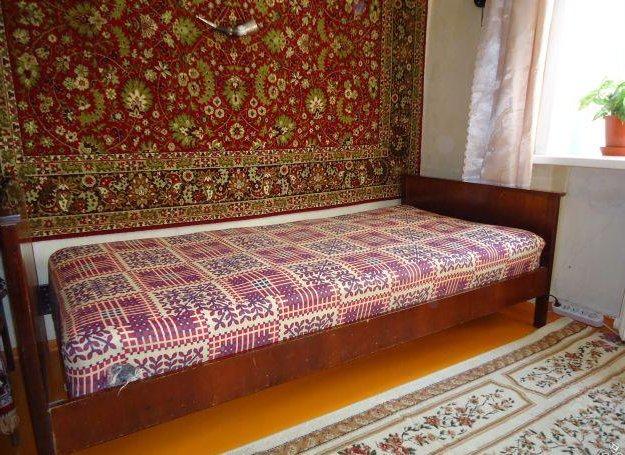 Кровать односпальная с матрасом. Фото 1. Липецк.