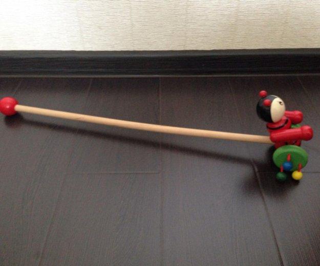 Деревянная каталка мышь. Фото 2. Зеленоград.