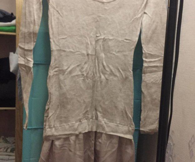 Платье intimissimi шерстяное с атласной юбкой. Фото 3. Москва.