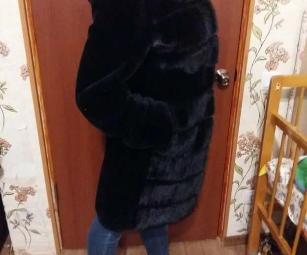 Шуба натуральный мутон. Фото 2. Лениногорск.