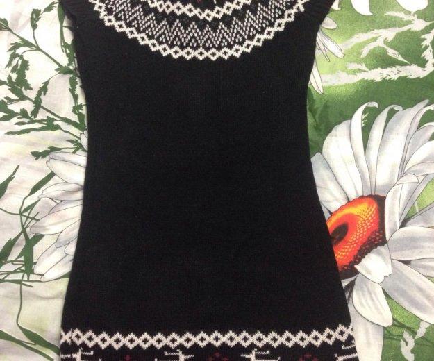 Платье вязаное. Фото 2. Дубовое.