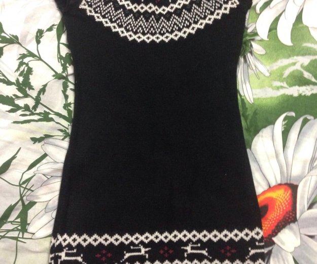 Платье вязаное. Фото 1. Дубовое.