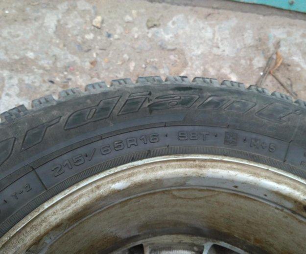Комплект литых дисков с зимней резиной. Фото 3. Обнинск.