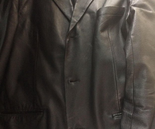 Пиджак кожаный. Фото 1. Москва.