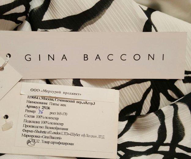 Платье длинное белое черное оригинал gina bacconi. Фото 2. Москва.