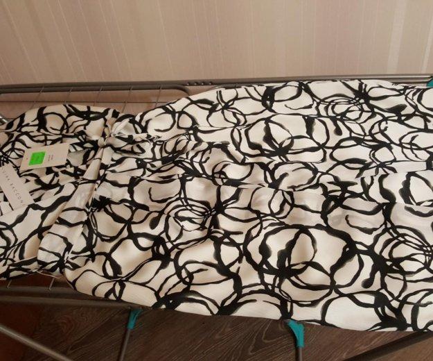 Платье длинное белое черное оригинал gina bacconi. Фото 4. Москва.