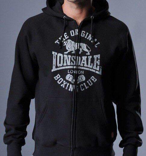 Толстовка худи lonsdale club logo black. Фото 1. Красноярск.