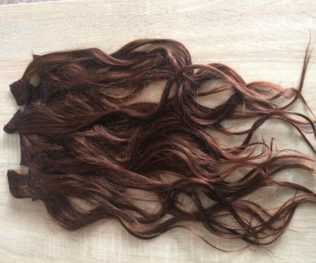 Волосы на заколках. Фото 1.