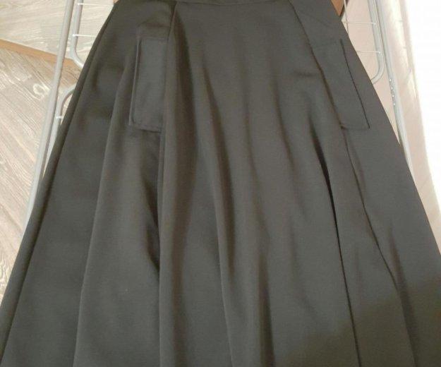 Платье бу черное длинное плотное. Фото 1. Москва.