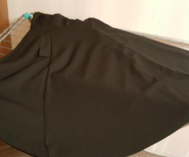 Платье бу черное длинное плотное. Фото 2. Москва.