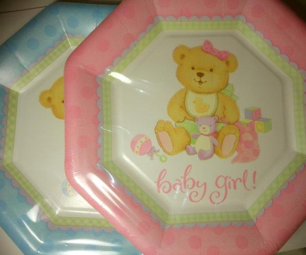 Набор детских бумажных тарелок 8 шт. Фото 1. Красногорск.