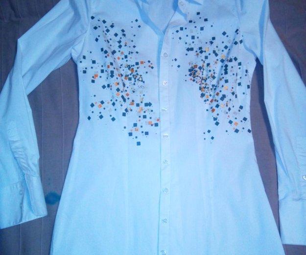 Рубашка удлиненная, до бедра размер s. Фото 1. Москва.