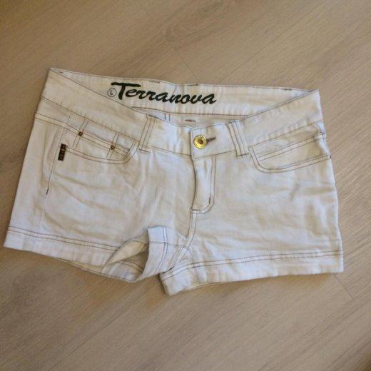 Шорты белые джинса m. Фото 1. Москва.