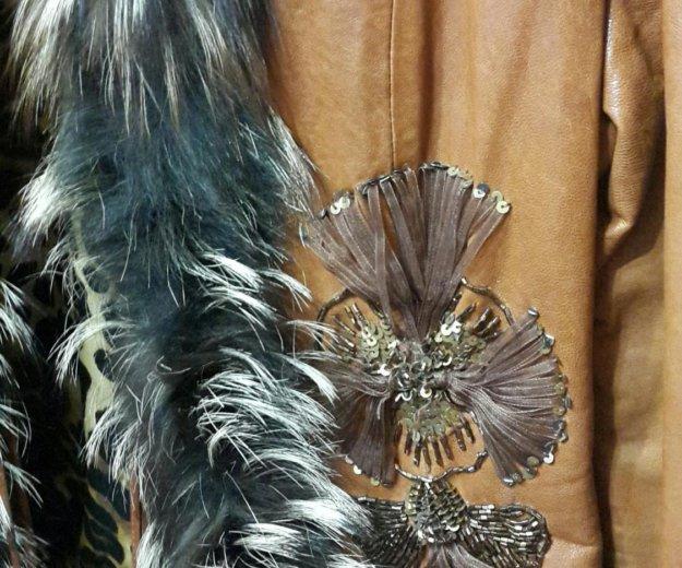 Куртка с мех чернобур. кожаная(натуральная)женская. Фото 3. Москва.