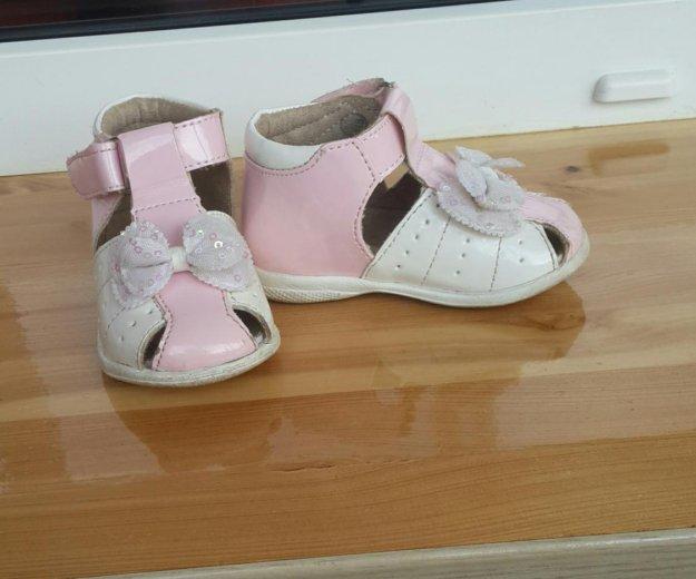 Туфли открытые для девочки р.19. Фото 2. Электросталь.