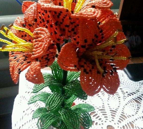 Цветы из бисера. Фото 2. Абинск.