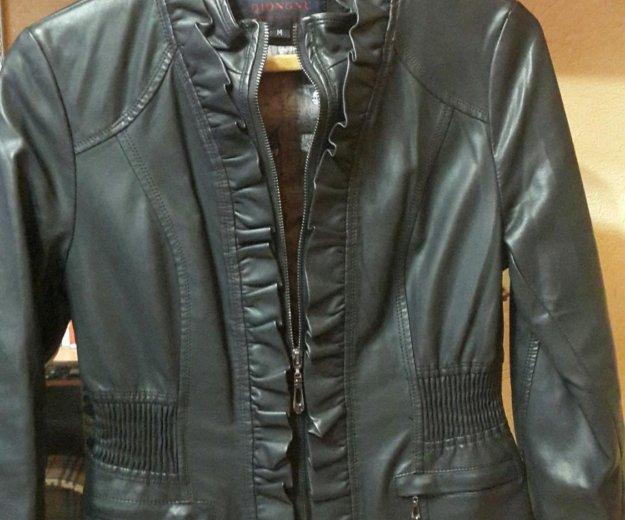 Кожаная куртка (эко кожа) женская. Фото 3. Москва.