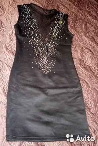 Коктейльное платье со стразами. новое. Фото 1. Санкт-Петербург.