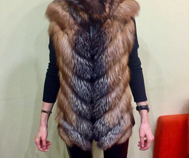 Жилетка меховая из лесы. Фото 1. Красногорск.