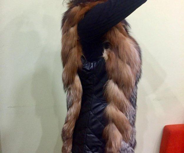 Жилетка меховая из лесы. Фото 2. Красногорск.