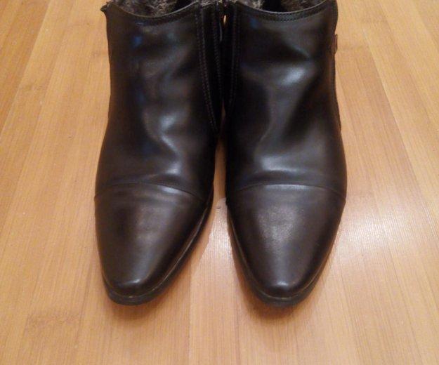 Зимние классические кожанные ботинки. Фото 4.