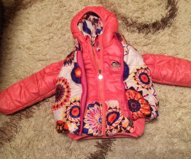 Детская куртка+жилетка. Фото 1.