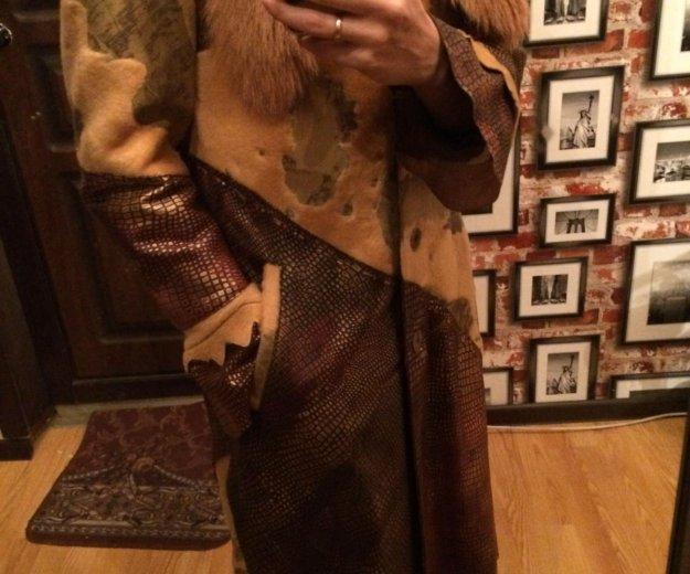 Кожаное пальто р-р 44-46. Фото 3. Белгород.