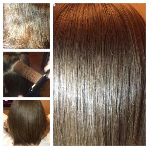 Кератиновое выпрямление волос honma. Фото 1. Москва.