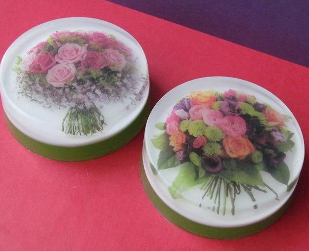 Мыльце с картинкой букеты цветов. Фото 1. Коломна.