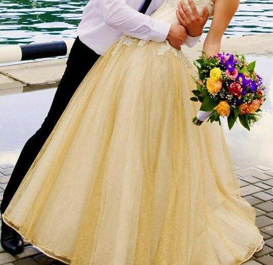 Золотое свадебное платье. Фото 2. Севастополь.