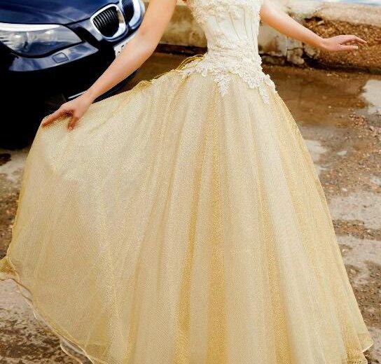Золотое свадебное платье. Фото 1. Севастополь.