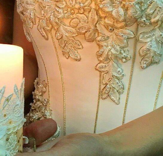 Золотое свадебное платье. Фото 4. Севастополь.