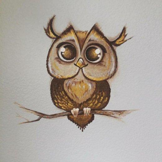 Рисунок на стене. Фото 1. Сургут.