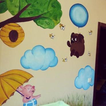 Рисунок на стене. Фото 3. Сургут.