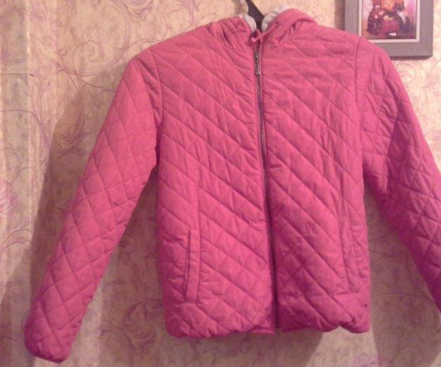 Куртка для девочки куртка розовая 152 размер осенн. Фото 1.