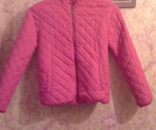 Куртка для девочки куртка розовая 152 размер осенн. Фото 2.