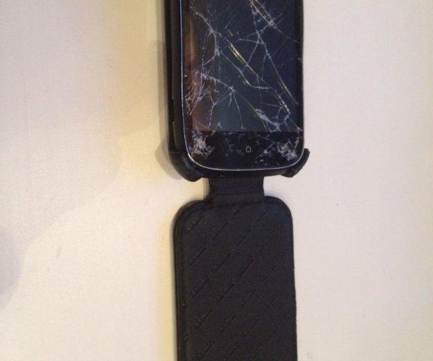 Телефон htc desire c. на запчасти. разбито стекло. Фото 2. Екатеринбург.