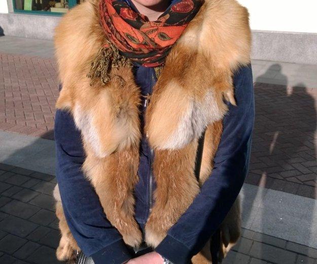Жилет из лисы. Фото 2. Москва.